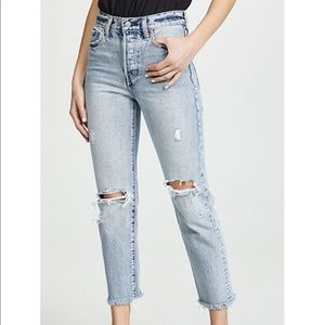 Silver Jeans Co Distressed High Waisted Mom Jean